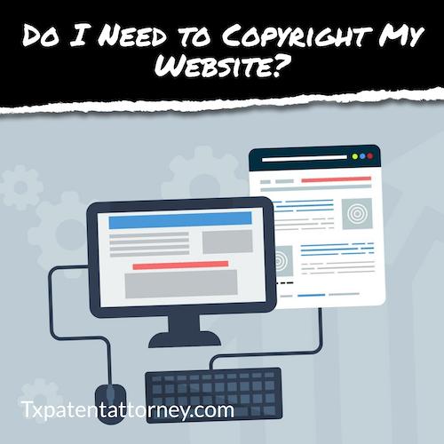 do i need to copyright my website