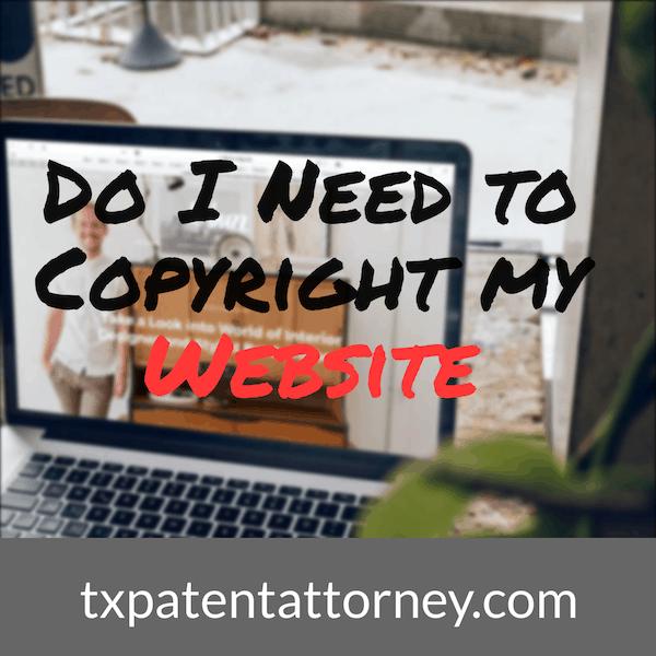 Do I need to copyright my website?